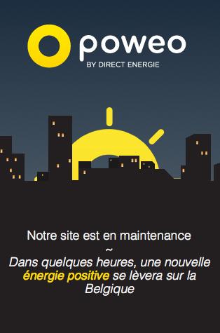 Page de maintenance version mobile